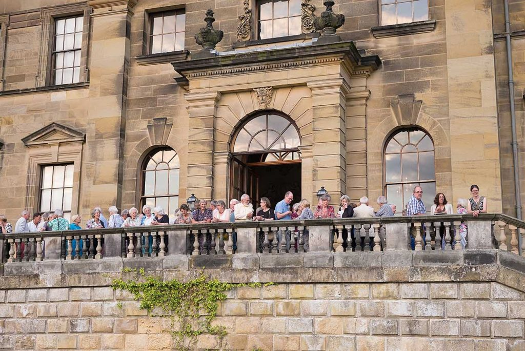 Ryedale audience members outside one of the Festival venues